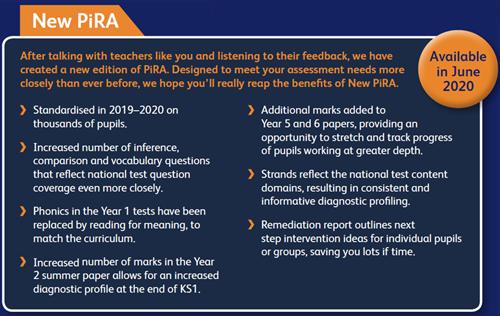 PIRA Reading Tests For Pupil Assessment - Rising Stars