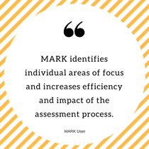 MARK identifies individual areas of focus and increases efficiency and impact of the assessment process