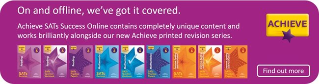 On and offline, we've got you covered. Achieve SATs Success Online contains completely unique content and works brilliantly alongside our new Achieve printed revision series.