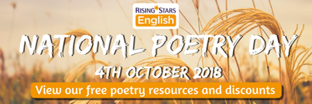 National Poetry Day 2018 - View our free poetry resources