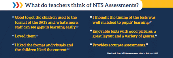 What do teachers think of NTS Assessments