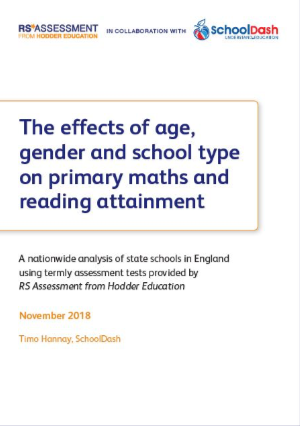 The effects of age, gender and school type on primary maths and reading attainment