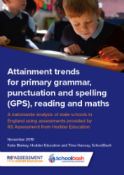 Attainment trends in primary grammar, punctuation and spelling, reading and maths