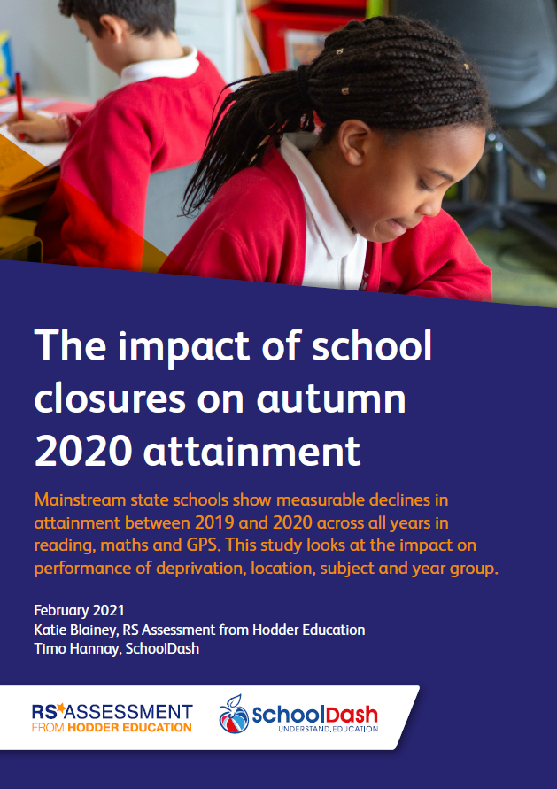 2021 white paper: The impact of school closures on autumn 2020 attainment