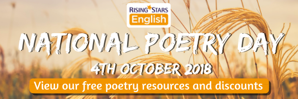 View our free Poetry resources and discounts for National Poetry Day 2018
