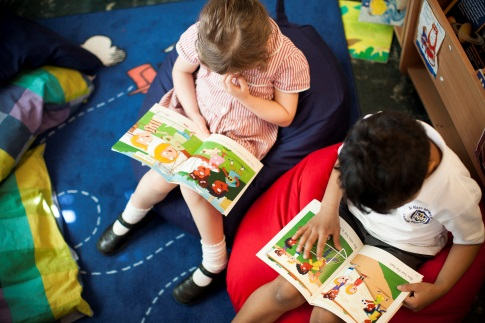 Children reading Reading Planet