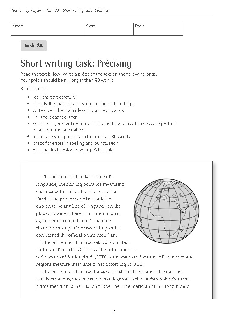 Year 6 writing tasks