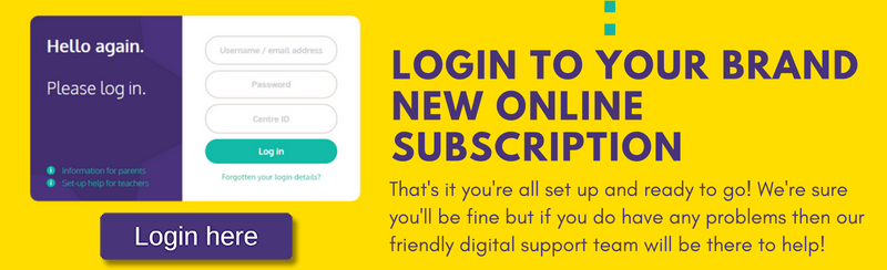 Login to your brand new online subscription